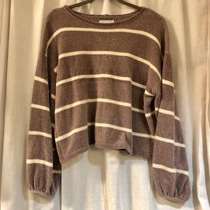 AE Chenille Striped Sweater